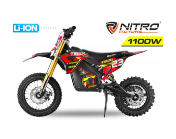 Tiger 1100W 36V LITHIUM-ION MINI MOTO ÉLECTRIQUE CROSS ENFANT